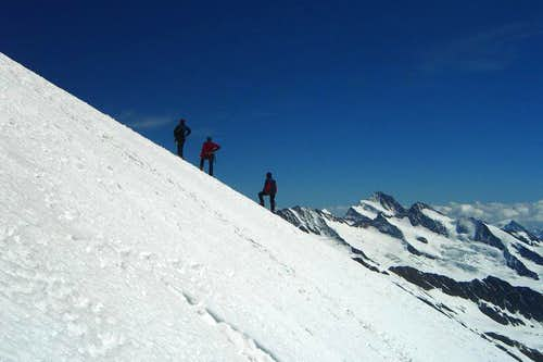 Summit flank of Jungfrau