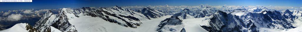 Summit Pano of Jungfrau
