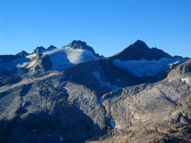 Mt. Lyell (left) and Mt....
