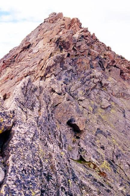 The sawtooth ridge between...