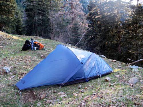 Setting camp