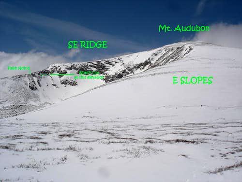 Audubon's SE ridge upper from E slopes.