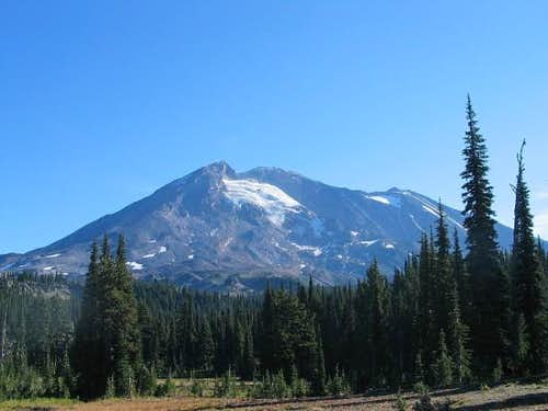The west side of Mt. Adams as...