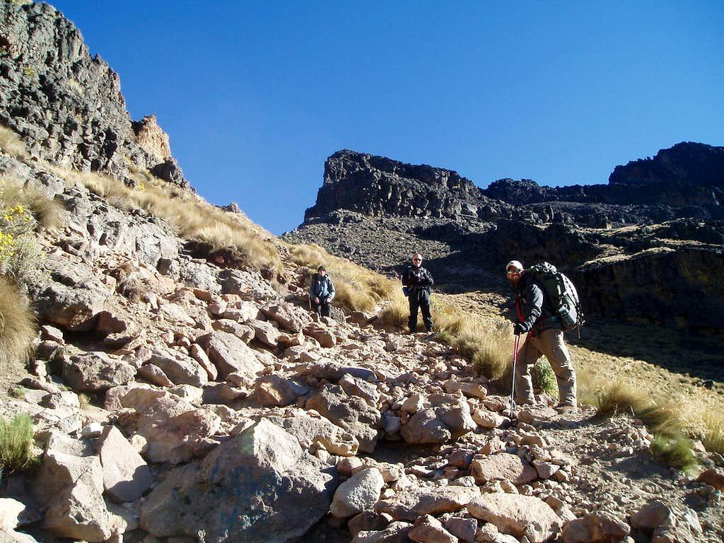 Trail above La Joya