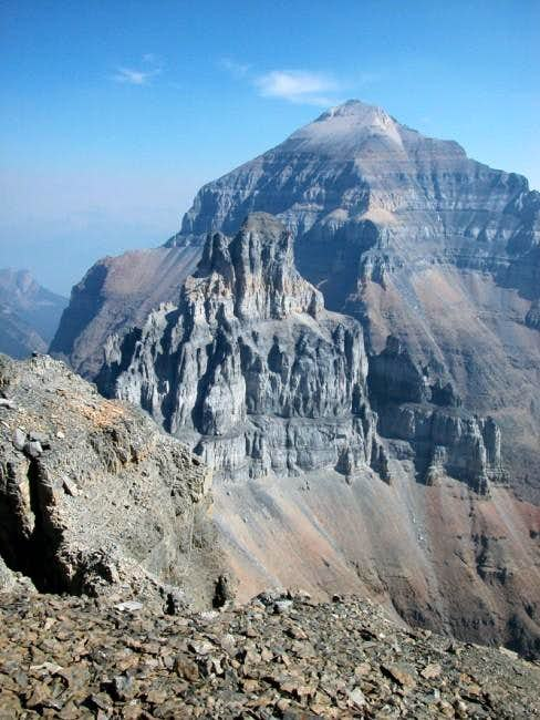 Mount Temple from the summit...