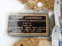 Mount Cardwell plaque