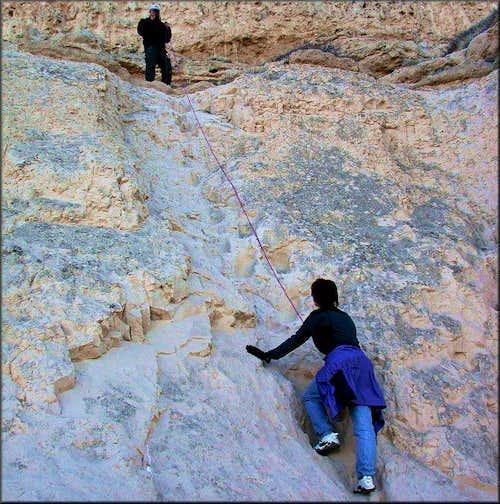 Climbing the East Butte