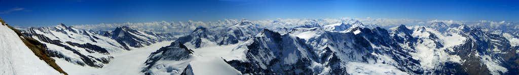 Panorama to Aletschhorn
