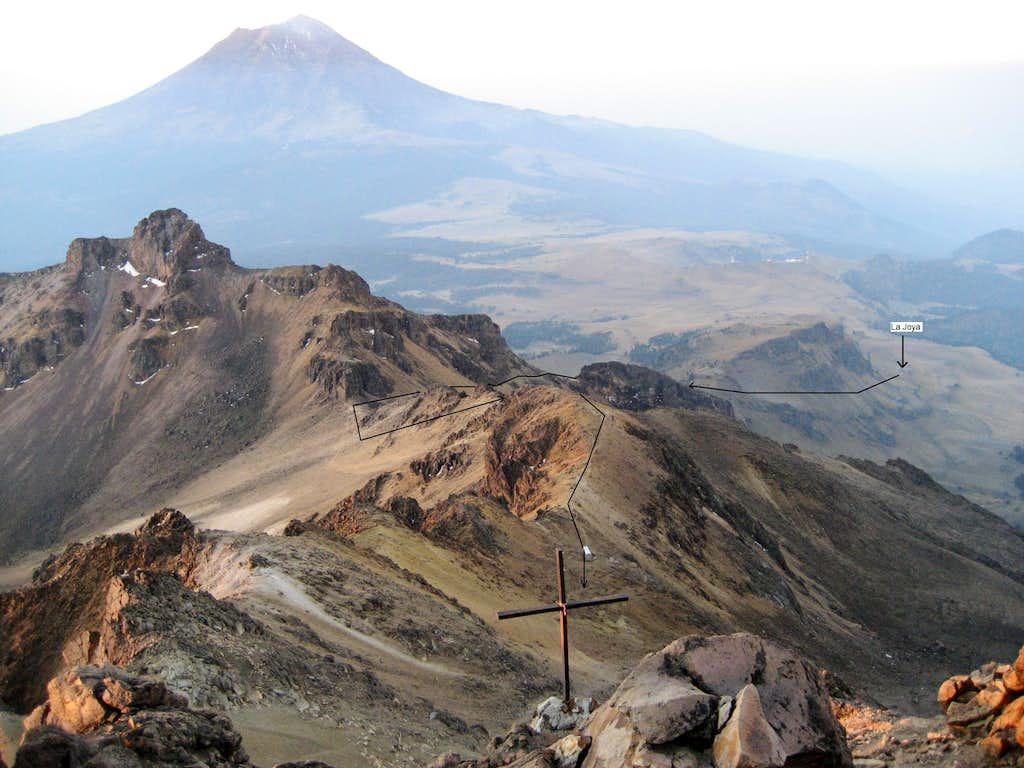 La Arista de Sol Route from the Knees