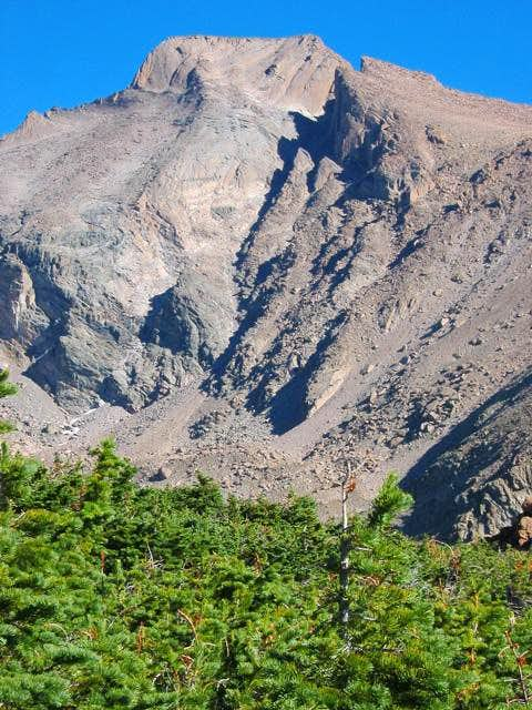 South slopes of Longs Peak....