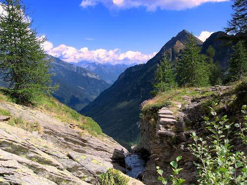 View into Val di Blenio