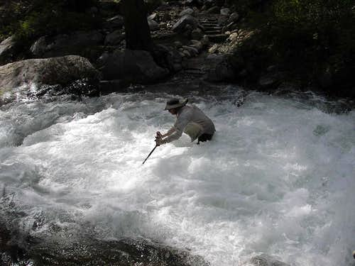 Go-Big in Fast Water, Mono Creek