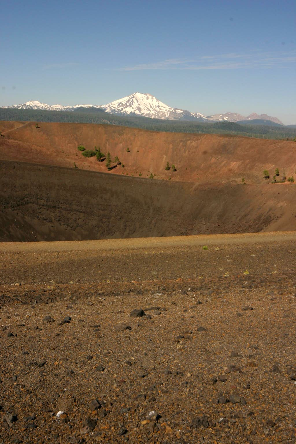 Lassen above Cinder Cone crater.