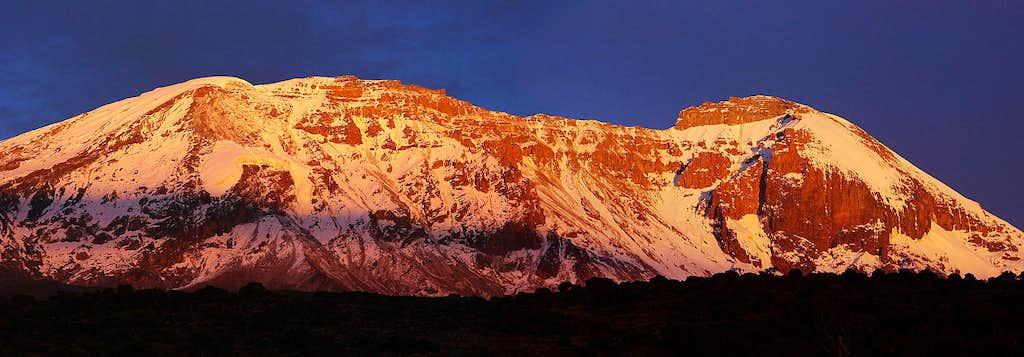 Sunset on Kilimanjaro (pano)