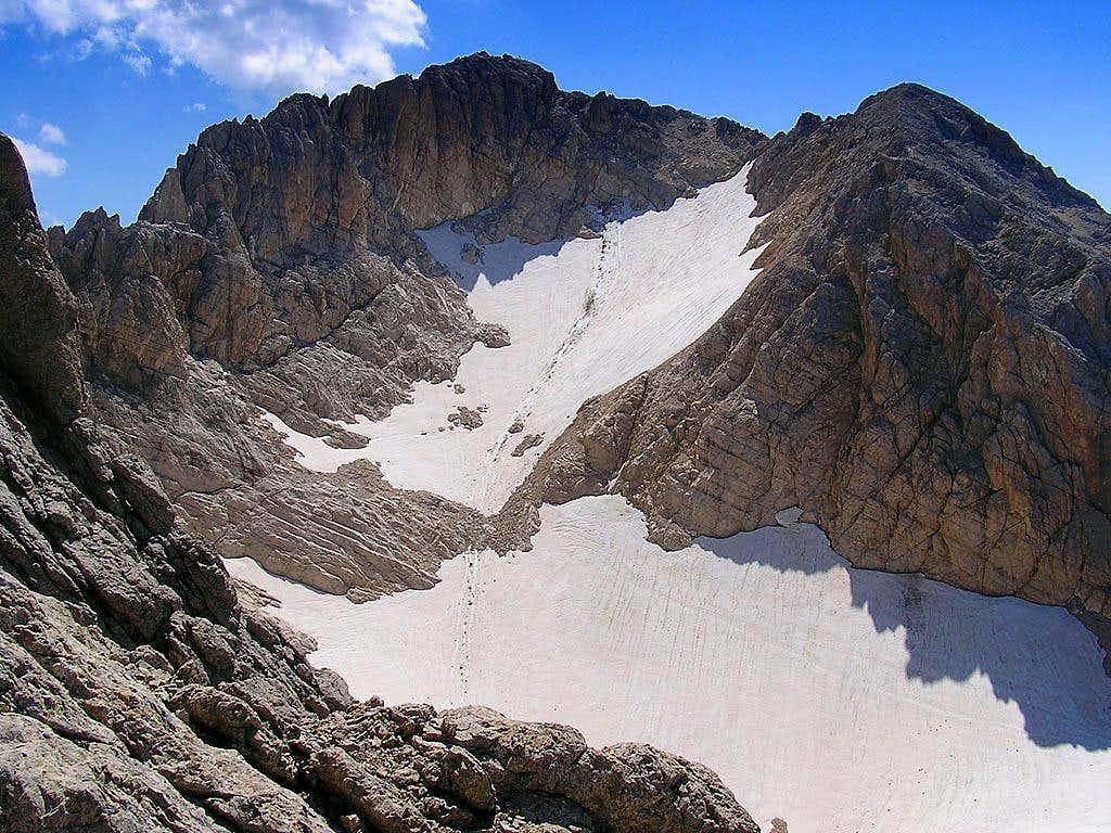 Corno Grande, Calderone Glacier