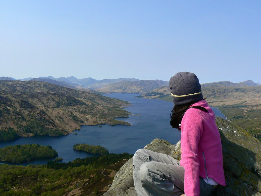 Lauren looking down on Loch Katrine