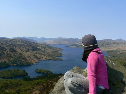 Lauren looking down on Loch Katrine
