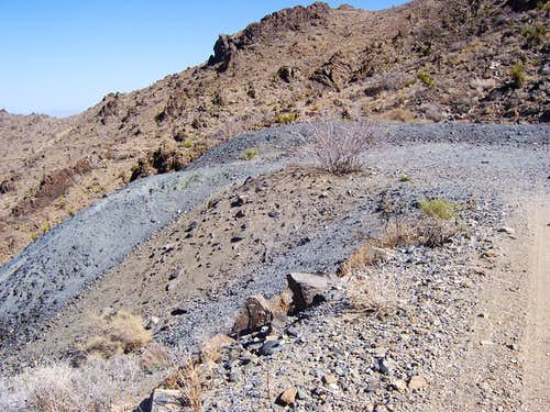 Blue mining tailings
