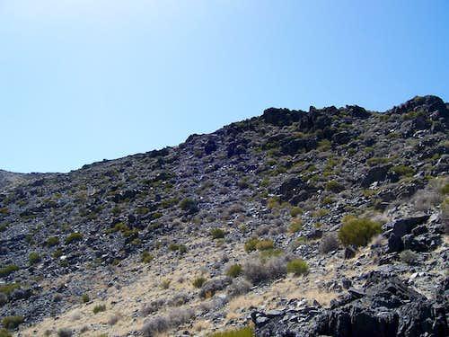 Ridge to the summit plateau.
