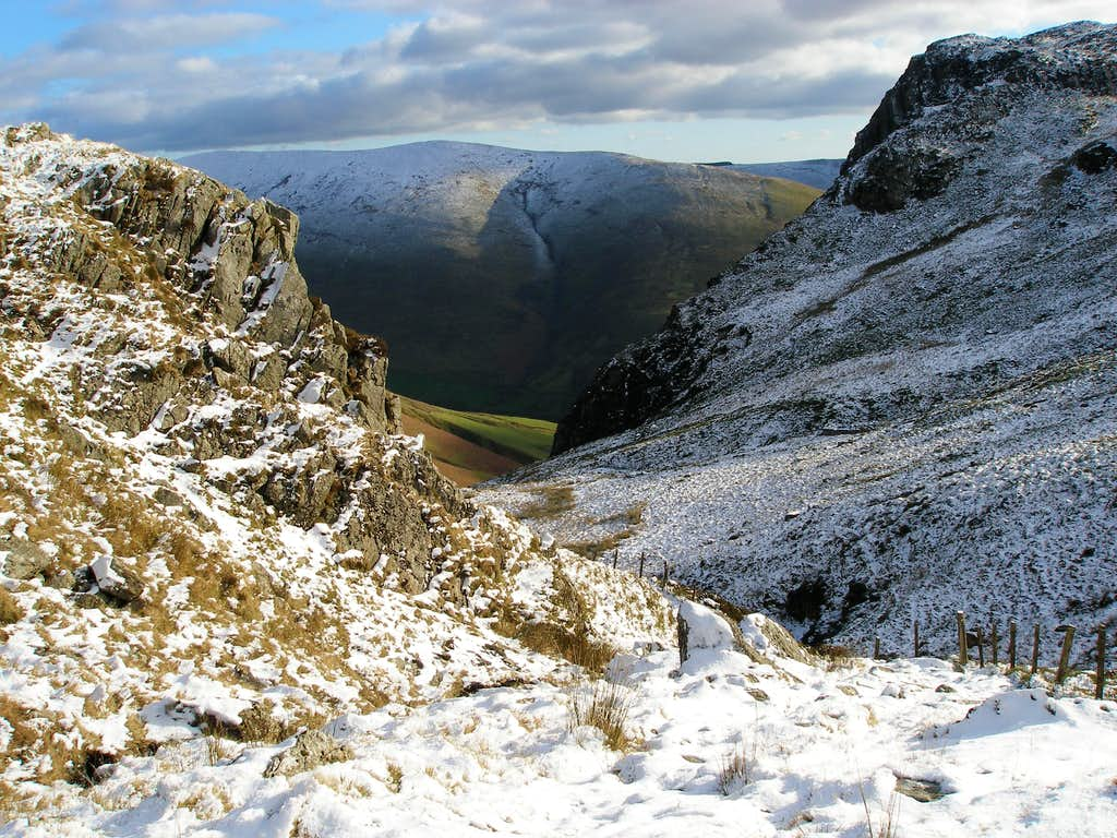Cwm Cywarch with a bit of snow