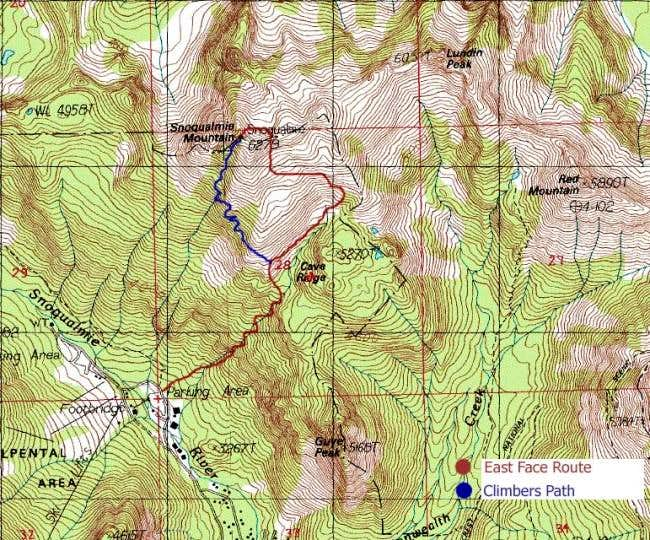 Routes to the summit