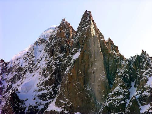 Aiguille Verte (4121 m) and Petit Dru (3754 m)