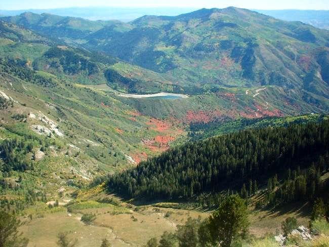Along the upper ridge line...