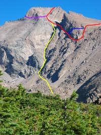 Three of Longs Peaks Routes...