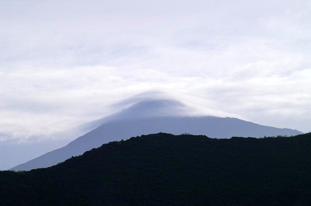Lenticular clouds above Teide