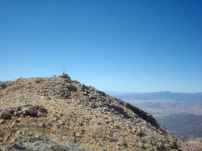 Looking West at the summit...