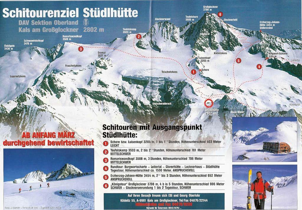 Skitours from Stuedlhutte