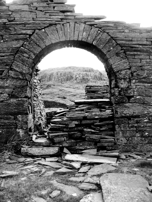 Old slate works in the Moelwyns