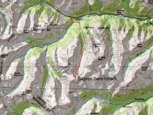 Sayres Benchmark's North Couloirs