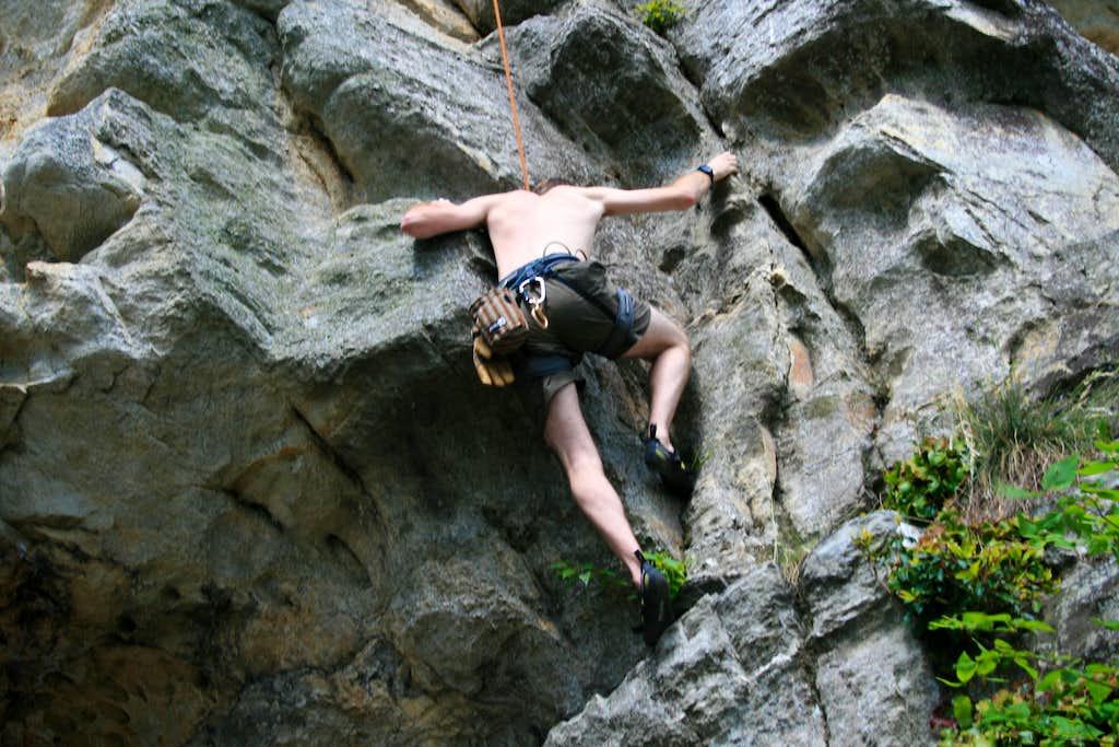 climbing at the Rock Gardens