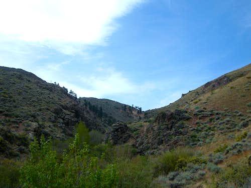 Start of the Hunter Creek Trail