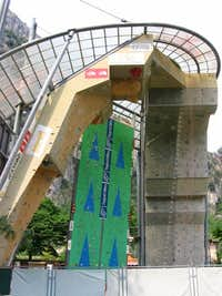 Artificial climbing wall in Arco