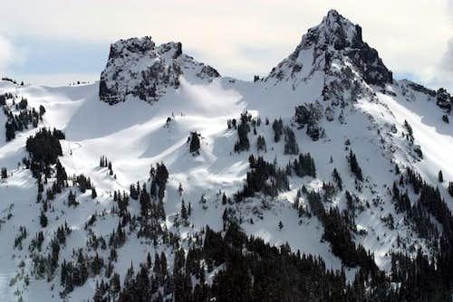 The Castle and Pinnacle Peak....