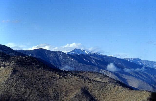 Olancha Peak in winter,...