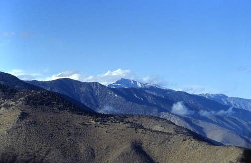 Olancha Peak in winter,...