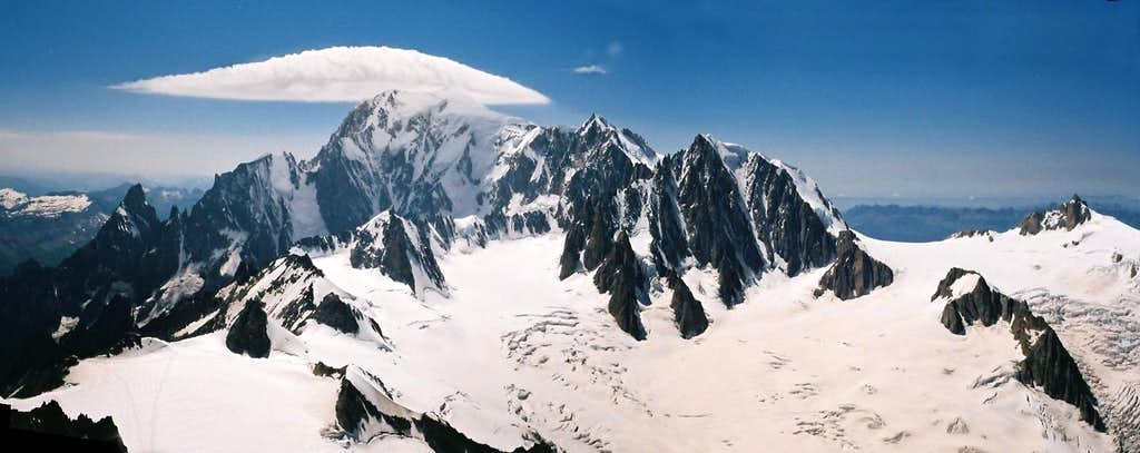 A panoramic view of Mont Blanc