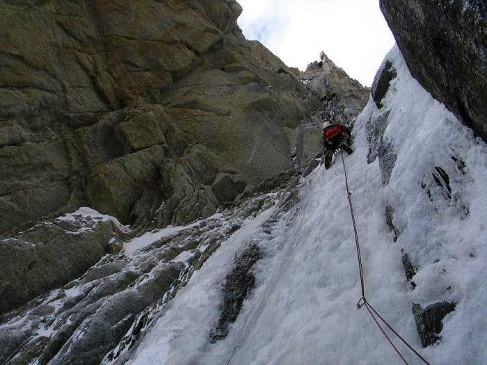 Climbing the Supercouloir du Tacul
