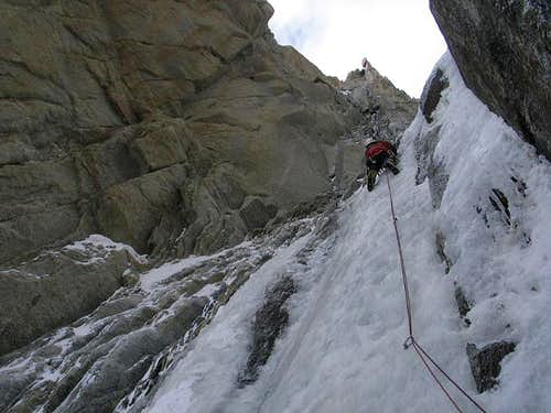 Climbing the Supercouloir du Tacul