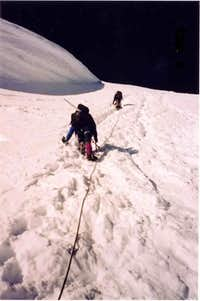 Approaching the summit, just...