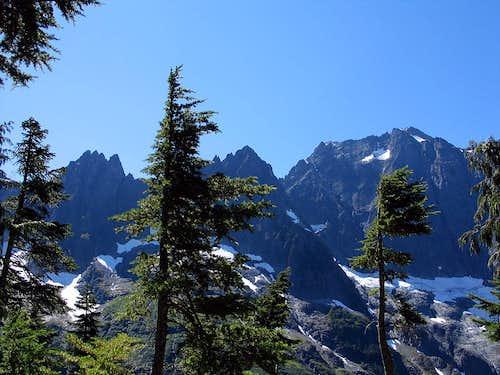 Going up Cascade Pass