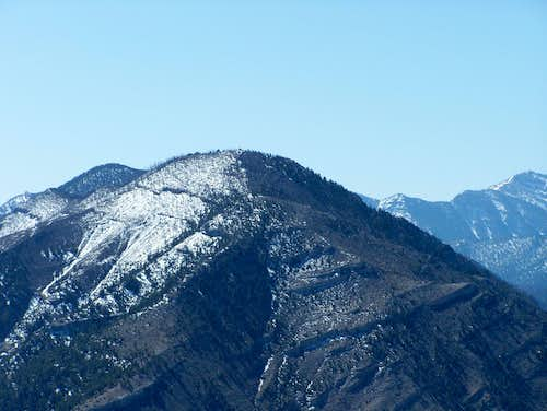 Willow Peak, Bonanza Peak, and Charleston Peak