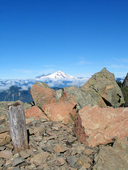 Mount Baker from Sauk Mountain lookout site