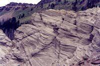 Weird Lake Bed Outcrop, Wildcat Basin