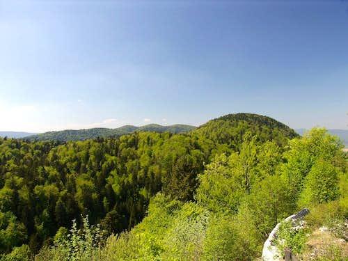 Stojna (1,073 m) above Kočevje