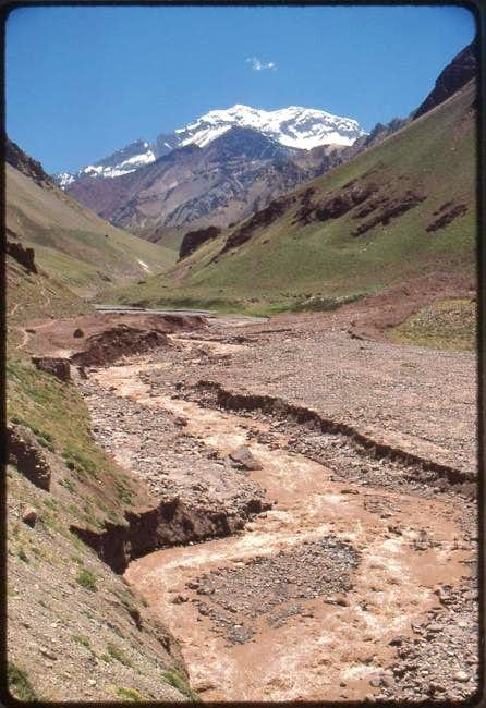 The south face of Aconcagua...