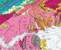 Geologic Map of Guardian Area